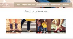 Product categories slider thus far