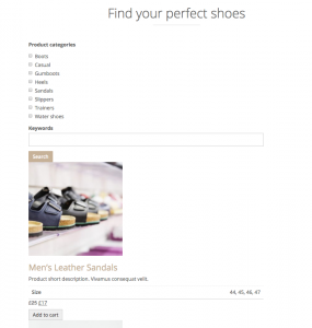 Product search before styling