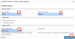 Setting up the Submit button