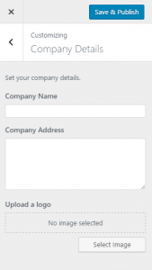 Custom theme settings on the Customize page