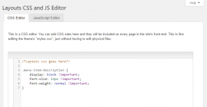 Custom CSS styling added on the dedicated Toolset admin page