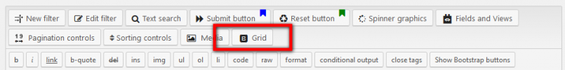 The new Grid row generator button
