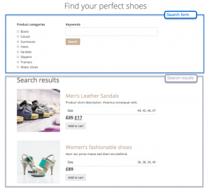 Outcome of this tutorial – product search