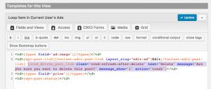 Delete link shortcode