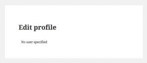 """""""Edit profile"""" page - what visitors see by default"""