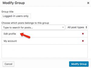 Adding the Edit profile page