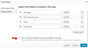 Selecting fields