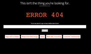 404 error page by By Arturs Skaraveckkis