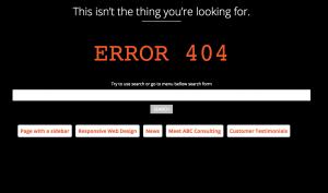 404 error page by By Arturs Skaraveckkis