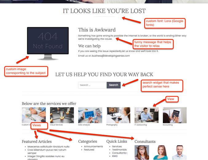 Best 404 error page by Amrinder Singh