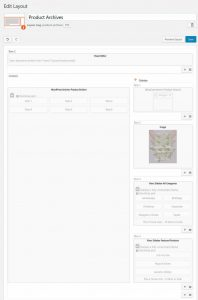 Layout for product archive page