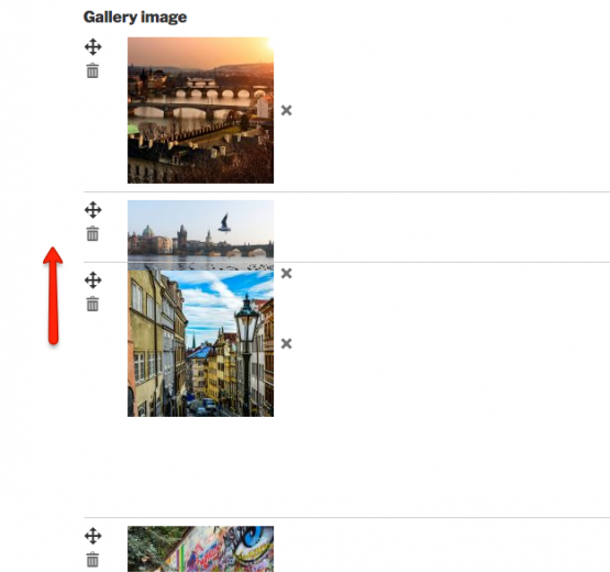 How to change the order of images?