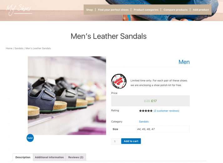 After - A new taxonomy (Men) and a new custom field (Special offer) were added. Column widths changed.